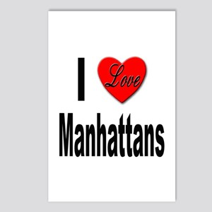 I Love Manhattans Postcards (Package of 8)